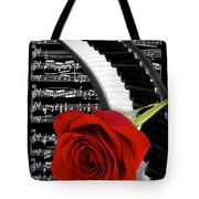 Black And White Music Collage Tote Bag