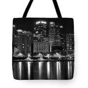 Black And White Night In Pa Tote Bag