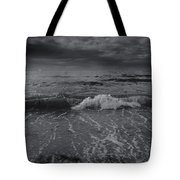 Black And White Ocean Wave 2014 Tote Bag