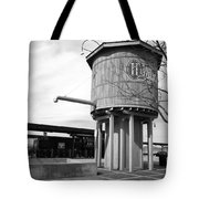 Black And White Of A Water Tower Tote Bag