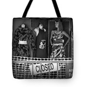 Black And White Outdoor Clothing Display Tote Bag