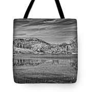 Black And White Photo Of Long Pond Acadia National Park Maine Tote Bag