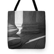 Black And White Pillars Tote Bag