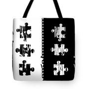 Black And White Puzzles Digital Painting Tote Bag