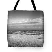 Black And White Seascape Tote Bag