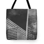 Black And White Skyscrapers Tote Bag