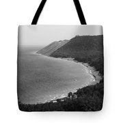 Black And White Sleeping Bear Dunes Tote Bag