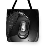 Black And White Spiral Staircaise Tote Bag