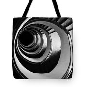 Black And White Spirals Tote Bag