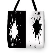 Black And White Splashes Digital Painting Tote Bag