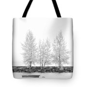 Black And White Square Diptych Tree 12-7693 Set 1 Of 2 Tote Bag