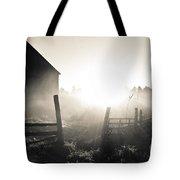 Black And White Sunrise Tote Bag