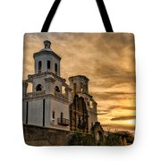 Black And White Sunrise Over Mission Tote Bag