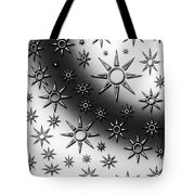 Black And White Suns Tote Bag