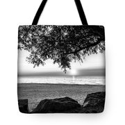 Black And White Sunset Tote Bag