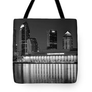Black And White Tampa Night Tote Bag
