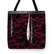Black And White Tears Falling Into Blood Red Lotus Tote Bag