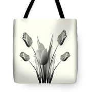 Black And White Tulips Drawing Tote Bag