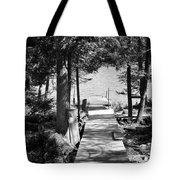 Black And White Walkway Tote Bag