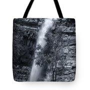 Black And White Waterfall Tote Bag