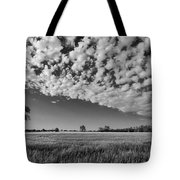 Black And White Wheat Field Tote Bag