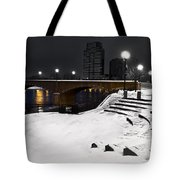 Black And White With A Splash Of River Tote Bag