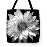 Black And White Zennia Tote Bag