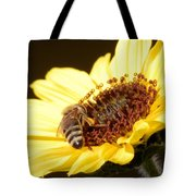 Black And Yellow Bee Beauty Tote Bag