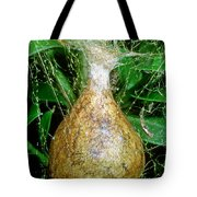 Black And Yellow Garden Spider Egg Sac Tote Bag