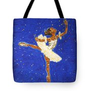 Black Ballerina Tote Bag