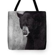 Black Bear Pose Tote Bag