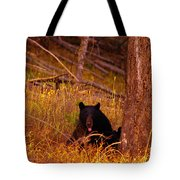 Black Bear Sticking Out Her Tongue  Tote Bag