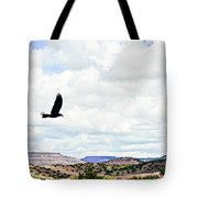 Black Bird In Flight Tote Bag
