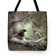 Black Bird In Forgotten Graveyard Tote Bag