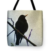 Black Bird Perch Tote Bag