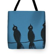 Black Birds On The Line Tote Bag