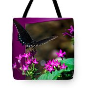 Black Butterfly 06 Tote Bag