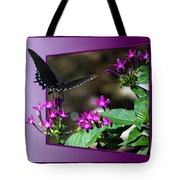 Black Butterfly 07 Tote Bag