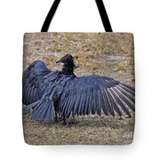 Black Buzzard Back Tote Bag