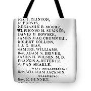 Black Candidates, C1835 Tote Bag