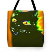 Black Cat 3 Tote Bag
