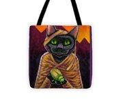 Black Cat Mummy Monster Tote Bag