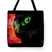 Black Cat Neon Tote Bag