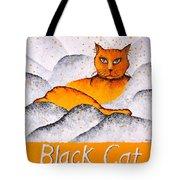 Black Cat Yellow Tote Bag