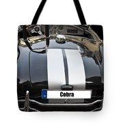 Black Cn Cobra Classic Car Tote Bag