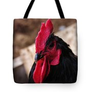 Black Cochin Rooster Tote Bag