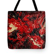 Black Cracks With Red Tote Bag