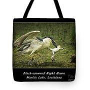 Black-crowned Night Heron At Martin Lake Tote Bag