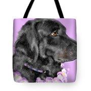Black Dog Pretty In Lavender Tote Bag