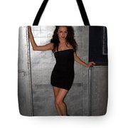 Black Dress Woman Tote Bag